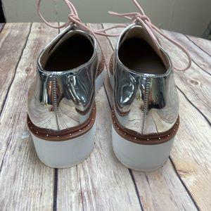 Chinese Laundry Shoes - Chinese Laundry Metallic Cecilia Oxford Platforms
